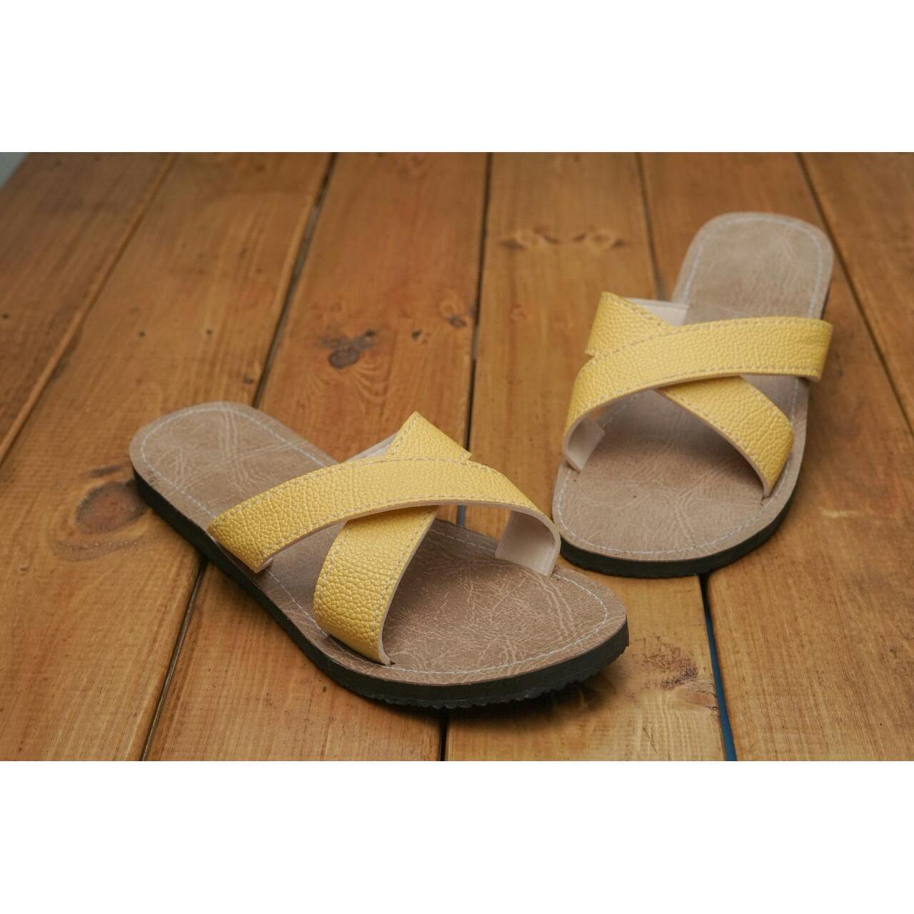 Sandal flet wanita / Sandal wanita etnik Sandal kulit wanita / Sandal wanita etnik / Sandal wanita murah