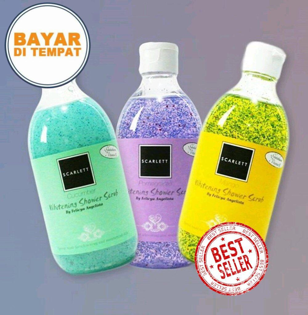 Scarlett Whitening Shower Scrub By Felicya Angelista 100% Original By Arorashop.
