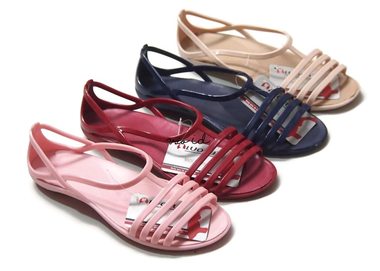 Sandal Jepit Cewek Luofu Sendal Karet Wanita Import Warna Dikirim Acak A031