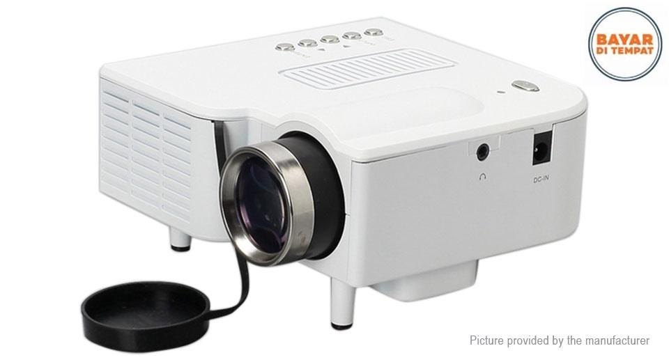 Projector Mini Portable Infokus Multimedia UNIC UC28+ Mini Portable LED Projector Ada Kabel AV 400