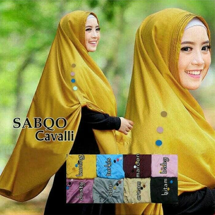 Hijab/Jilbab Syari Instan SATIN VELVET TERBARU Sabqo Cavalli A0693