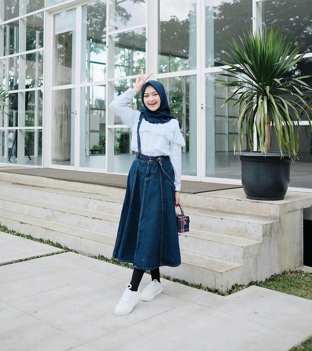 MC Yunki Skrit Jeans Rok Baju Bawahan Wanita Muslim Rok Panjang Suplier Pakaian Hijab Termurah Terbaru