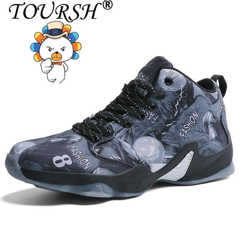 Toursh Pria Sepatu Basket Berongga Sneaker Empuk Olahraga Shoes free  Shipping  4b3a7dad77