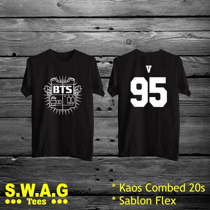 Prono Terlaris Kaos Bts V 95 By Mardiyah Fashion Store.