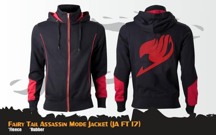 Harga Spesial!! Hoodie Anime Fairy Tail Ja Ft 17 Assassin Mode Jacket - ready stock