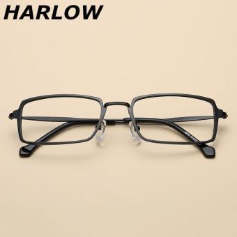 Pencarian Termurah Logam bingkai kacamata wanita Persegi Panjang Bisa dipadukan kacamata minus pasang Retro Gaya Korea