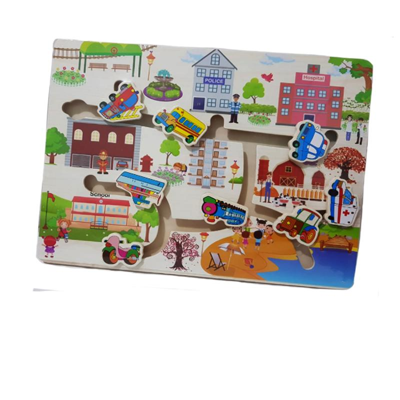 Kayla Org Mainan Edukasi Maze Transportasi Gedung