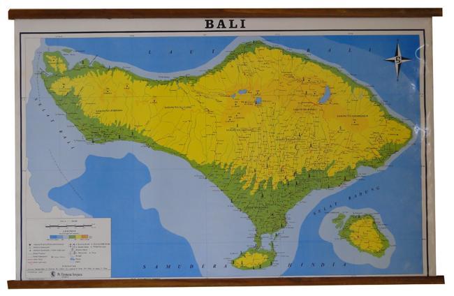 Terbaru!!! Peta Bingkai Provinsi Bali (Bingkai) - ready stock