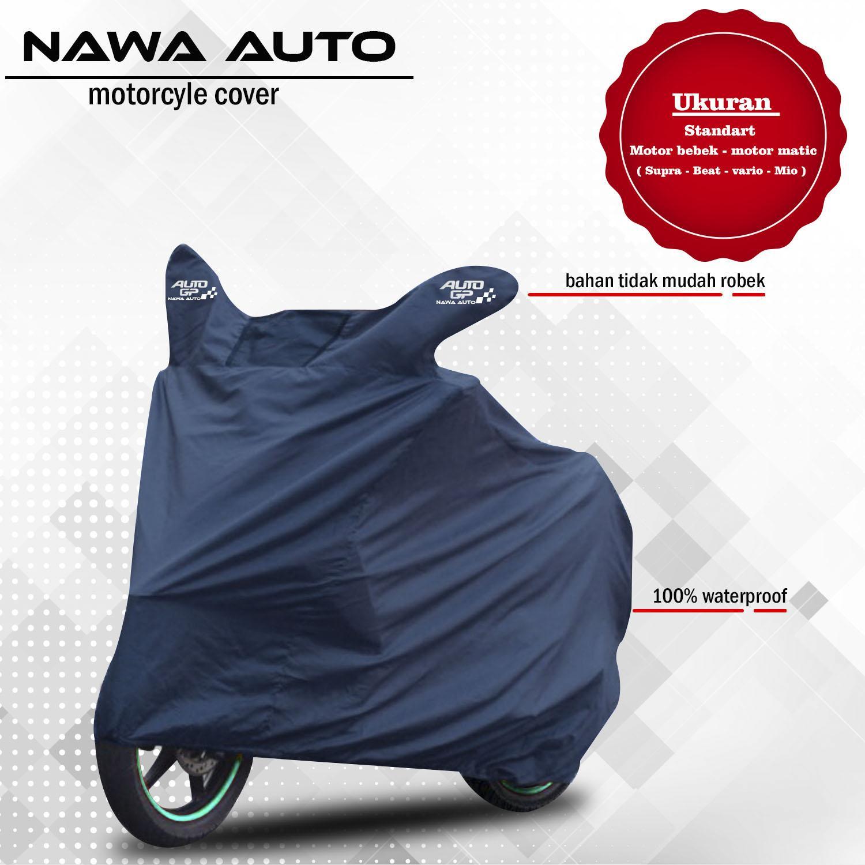 Nawa Auto - Cover Motor Selimut Motor Sarung Motor - Untuk Motor Bebek Dan Matic Kecil - Navy