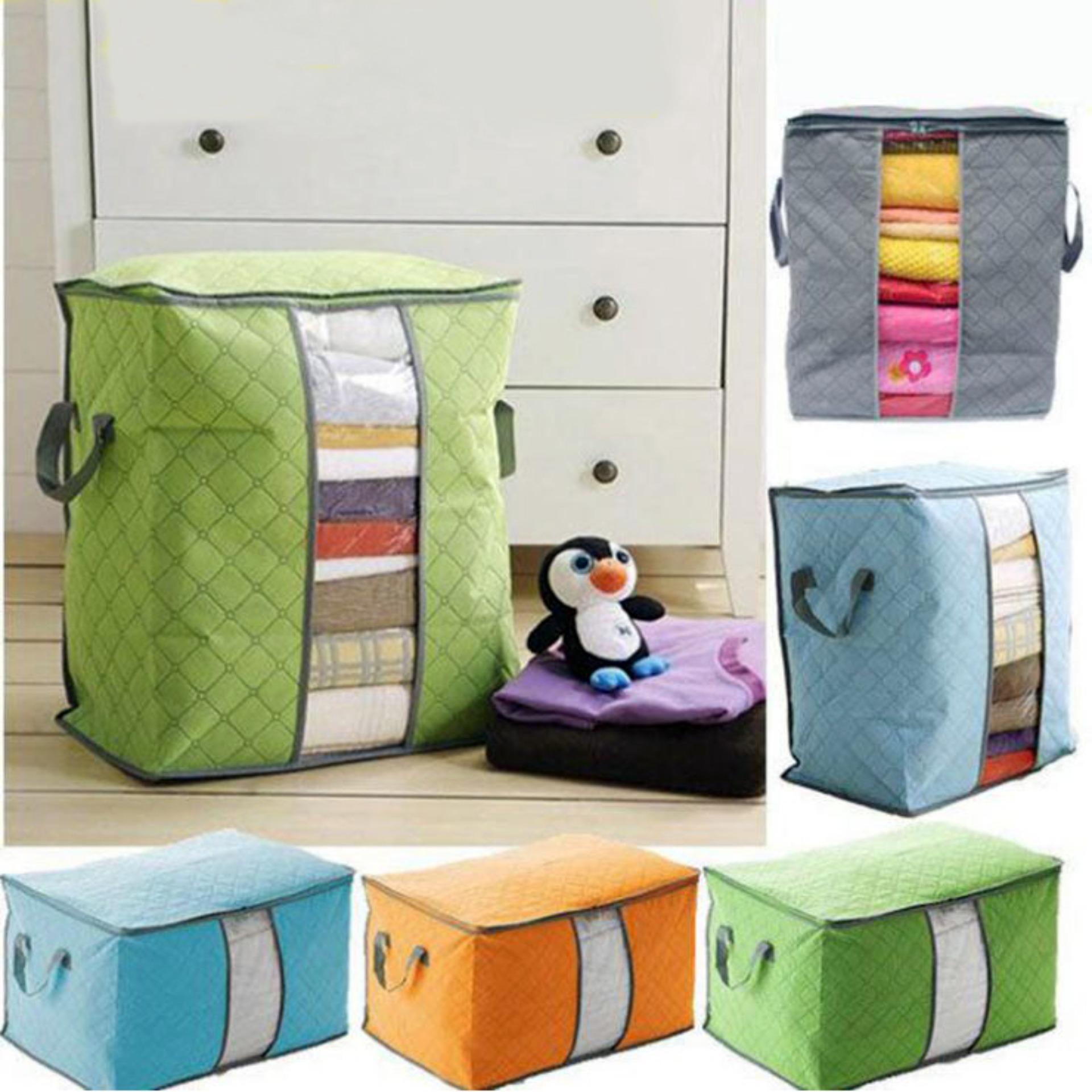 Storage Box Organizer Bag / Tempat Penyimpanan Pakaian Selimut Bed Cover Serbaguna