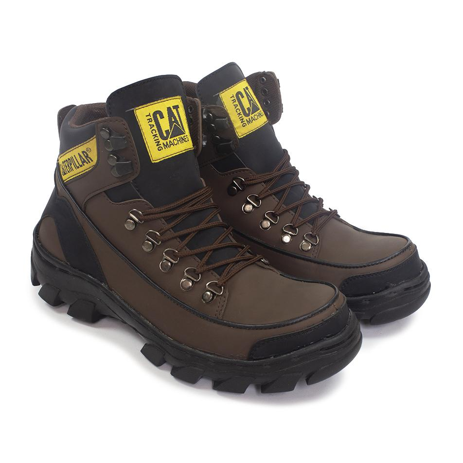 CATERPILLAR ARGON MBC Sepatu Pria Delta Boots Safety Work's Trendy Tracking Touring-COKLAT
