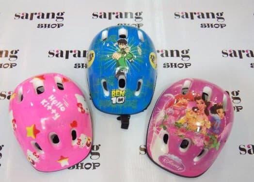 ORIGINAL!!! Helm Sepeda Untuk Anak Ada Gambar PRINCES, Hello Kitty,Ben 10, Angry - ZJc8tK