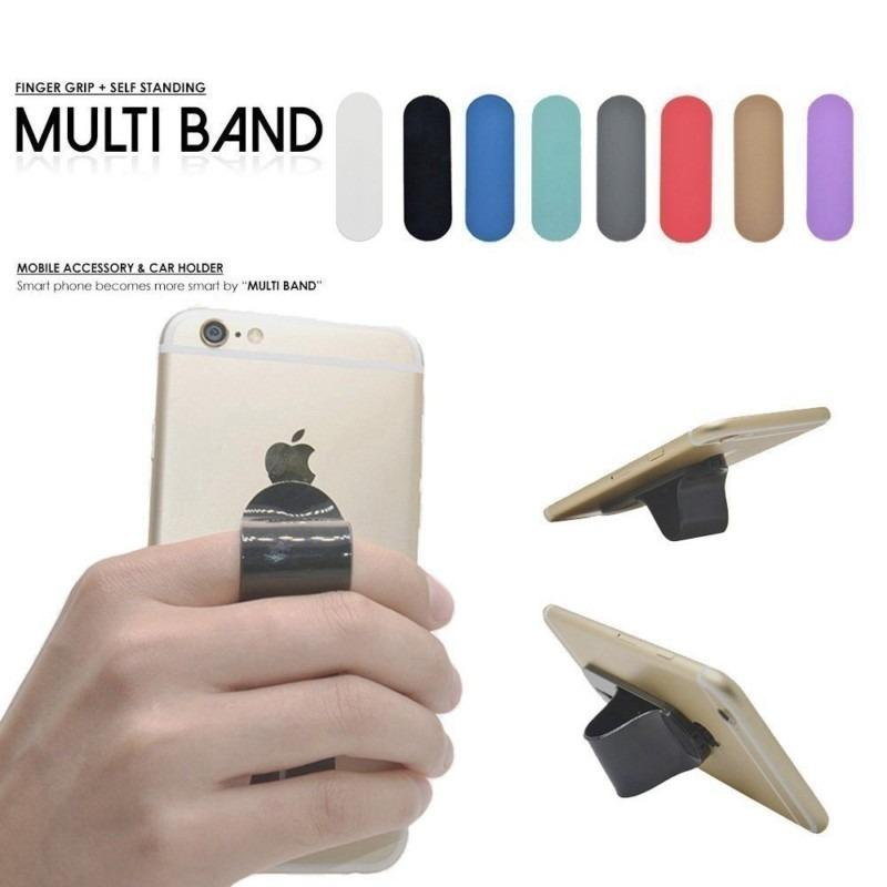 Accessories Hp Universal Multi Band Finger Grip Phone Holder Ring Stand Silicone For All Smartphone - 1pcs