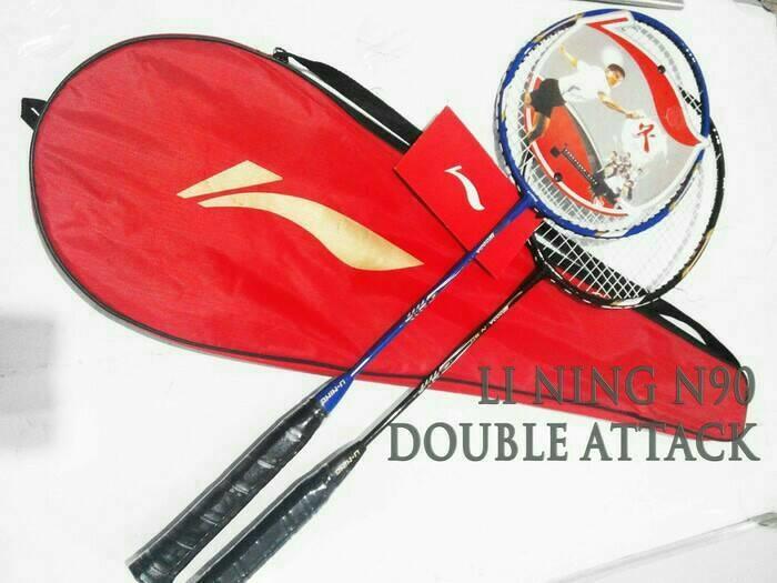Raket Badminton Merk LI NING Wooden N90 Raket GANDA BADMINTON