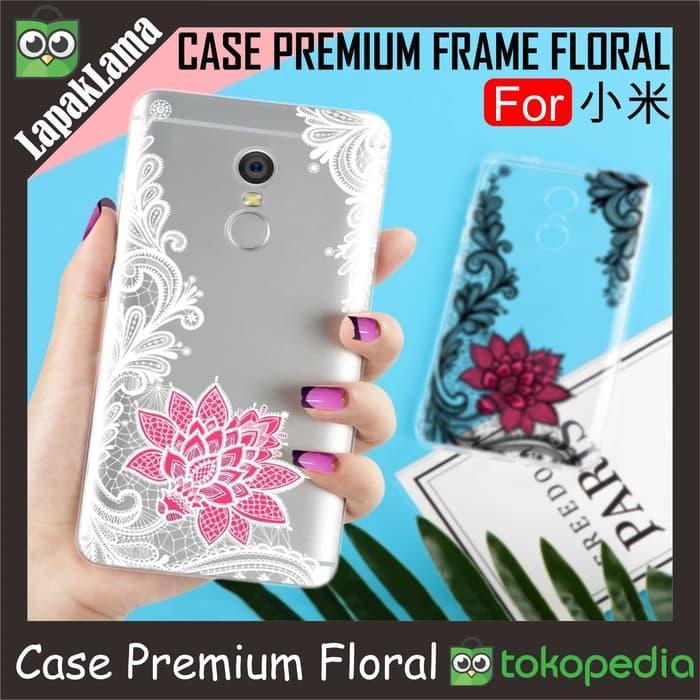 Paling Laris Premium Frame Floral Case Xiaomi Redmi 5 5  Note 5A Note