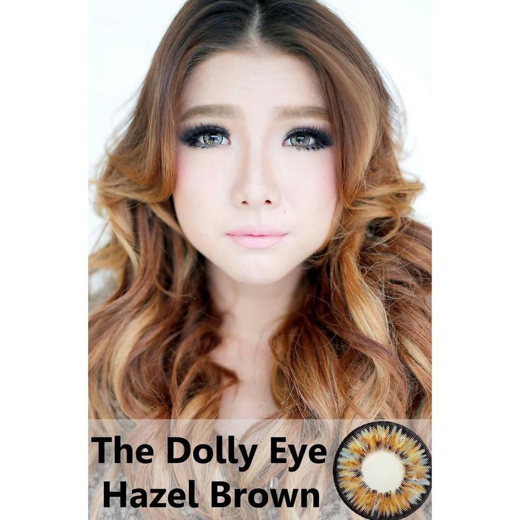 Original Softlens Dolly Eye Glamour Hazel Brown (Coklat Terang) Murah