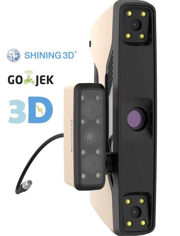 Industrial Grade 3D Scanner Einscan Pro+ Kualitas Terbaik