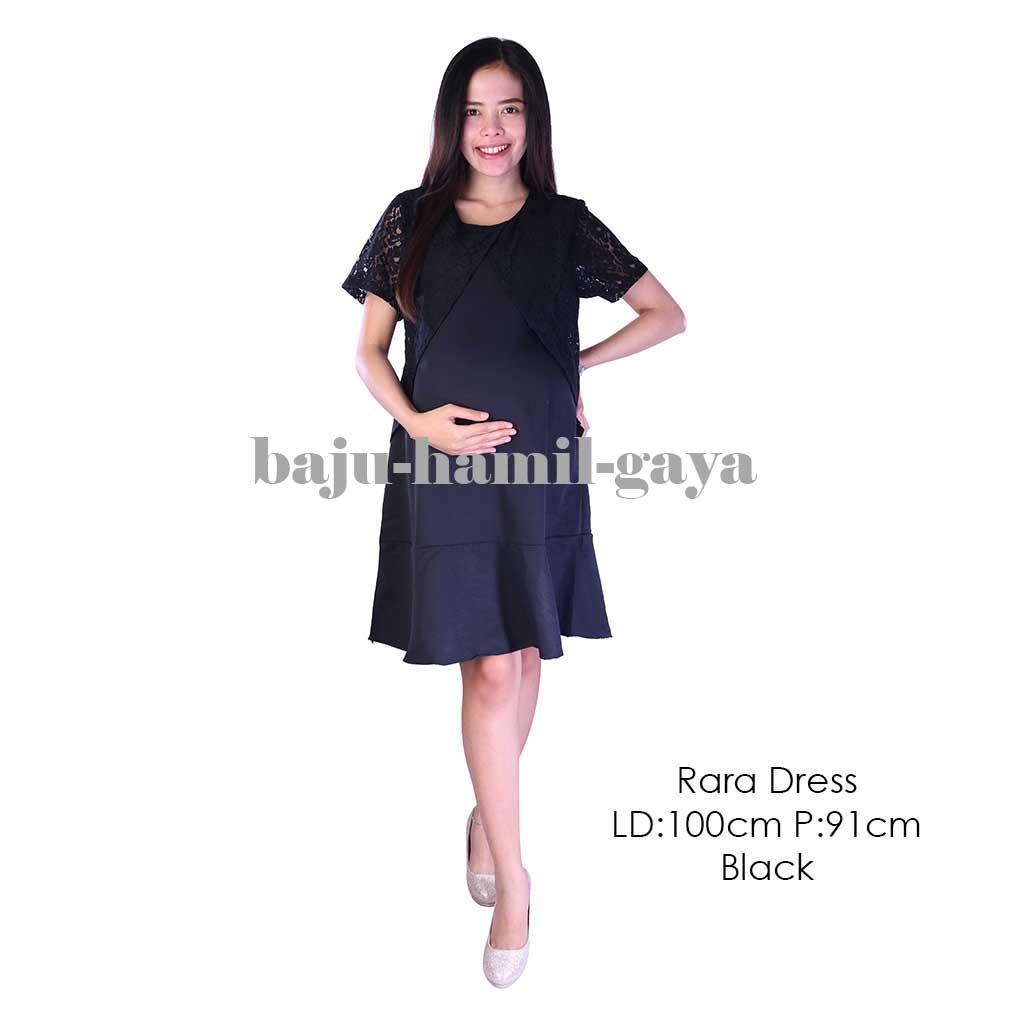 Baju Hamil Gaya - Dress Hamil - RARA DRESS BLACK - Terusan Hamil / Dress Menyusui / Baju Wanita Hamil / Baju Ibu Hamil Murah / Baju Hamil Murah / Baju Hamil Harga Murah / Baju Hamil Santai / Baju Hamil Kerja / Baju Kerja Hamil / Fashion / Wanita / Laris