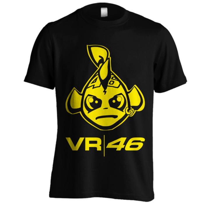 Kaos Valentino Rossi 2 Vale 46 The Doctor VR46 Motogp Rave Hitam