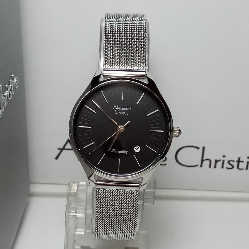 Alexandre Christie 6452 Jam Tangan Pria Stainless Steel Hitam Silver 6447 Wanita Ac8522ld Tranquility Dial Black