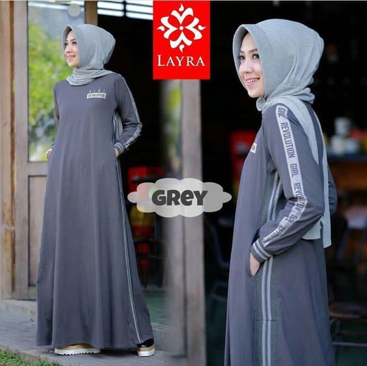 Jessy Fashion Baju Gamis Ria Dress Combad Trendy Modern Wanita Baju Panjang  Stelan Polos Muslim Gaun 779f7b598e