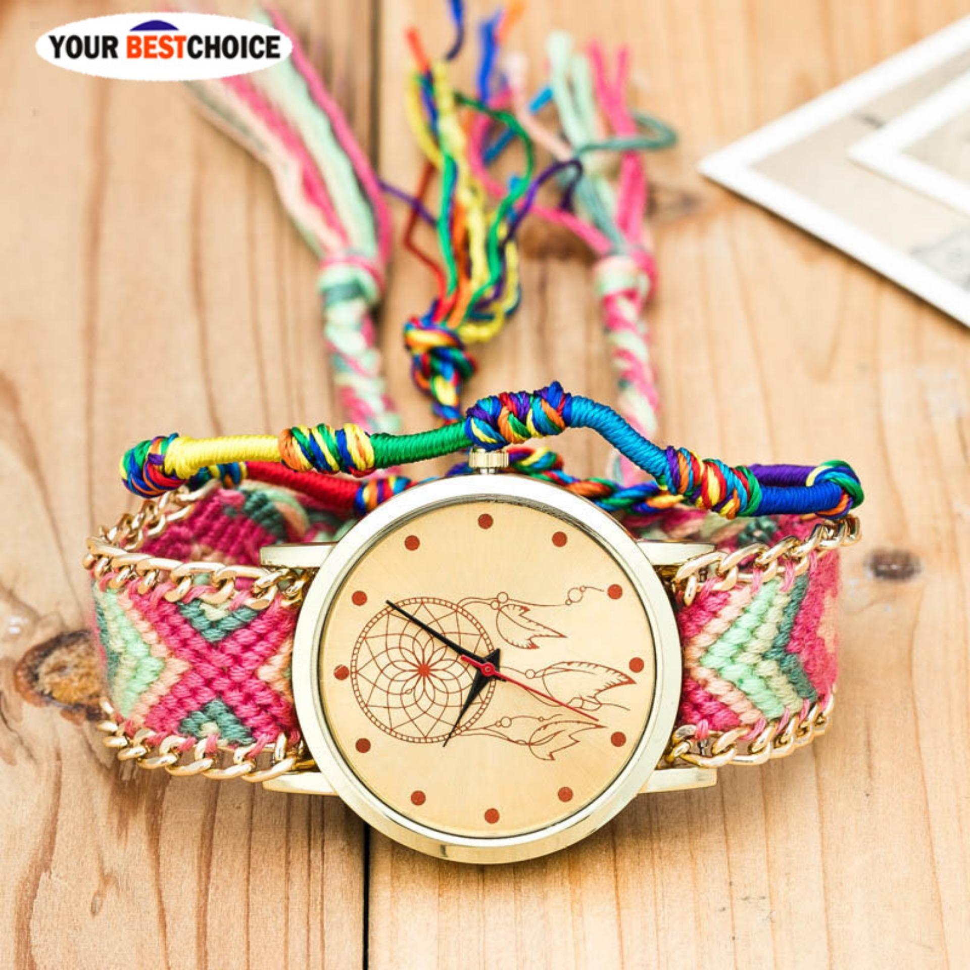 YBC Vintage Women Handmade Watch Dikepang Kuarsa Arloji Hadiah