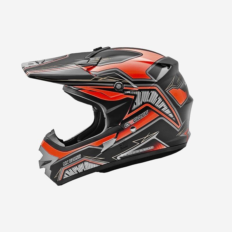 Cargloss MXC Motosport Orange Helm Full Face