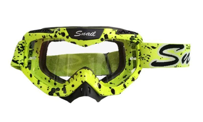 Kacamata Goggle Motocross Trail Snail MX37 - Snail Google M37 Yellow Fluo
