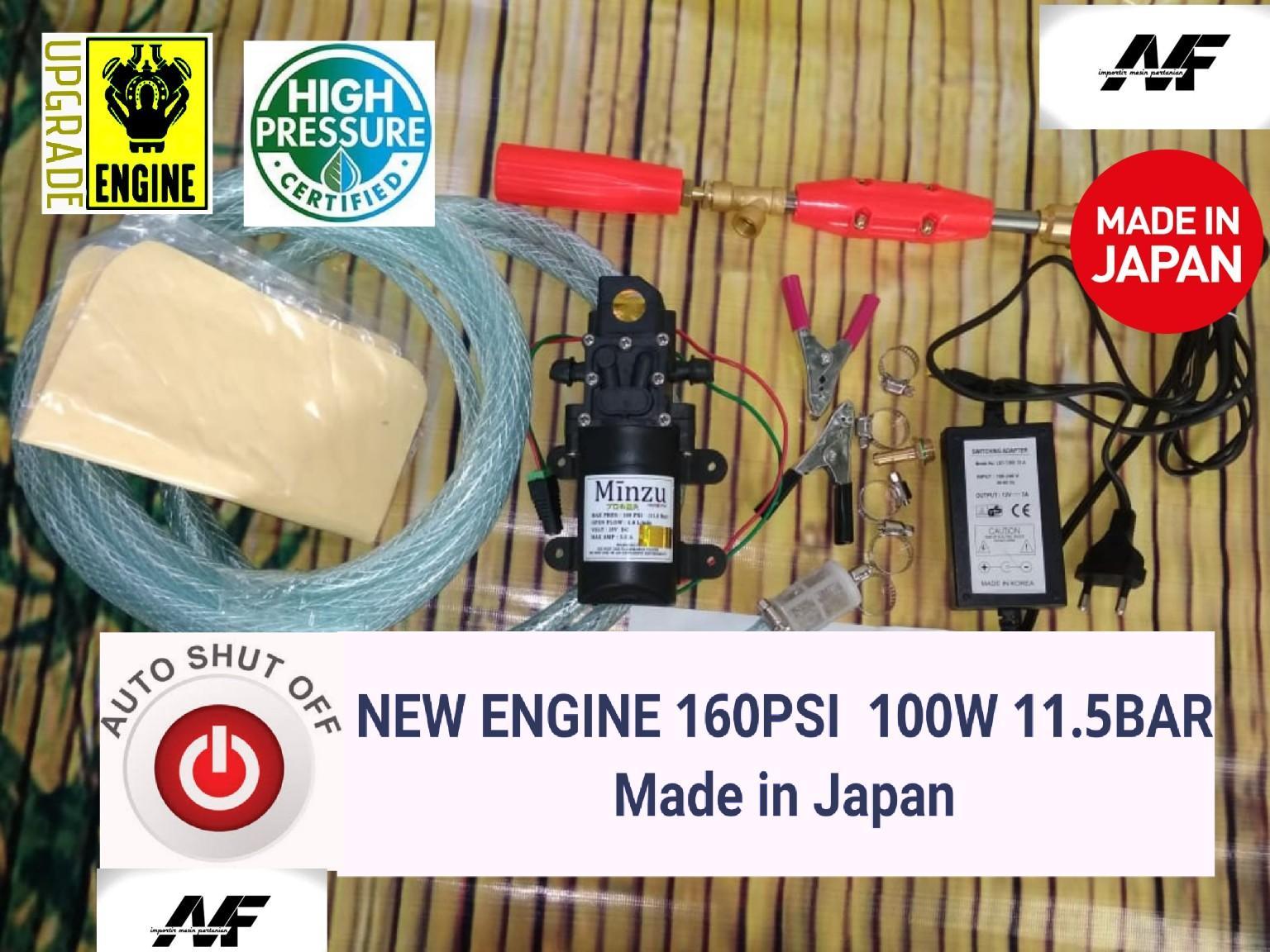 Mesin Terbaru 160PSI 100W 6.0LPM  & Adaptor Laptop 12V 7.0A Alat Cuci Motor Kualitas Dijamin Memuaskan