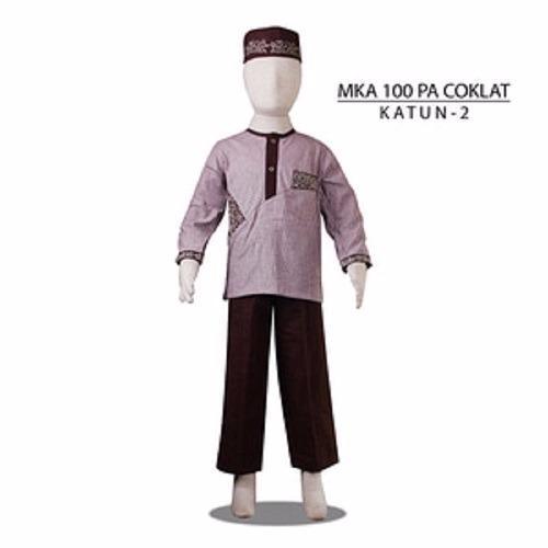 MKA100PACoklat(11-13tahun) jual baju koko anak grosir jeans