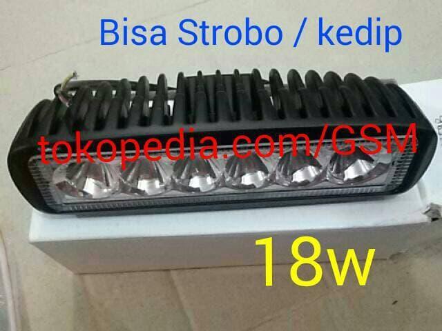 NEW LED Bar Lampu sorot LED STROBO tembak Offroad Drl  motor mobil