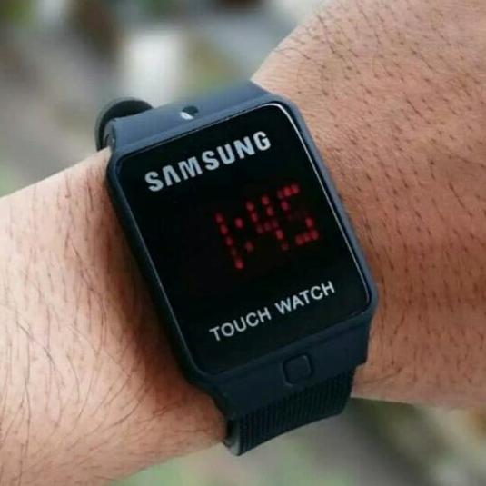 Jam Tangan Samsung Unisex Touch Watch Led Digital Layar Sentuh Arloji Pria/Wanita Strap Rubber - Model Terbaru