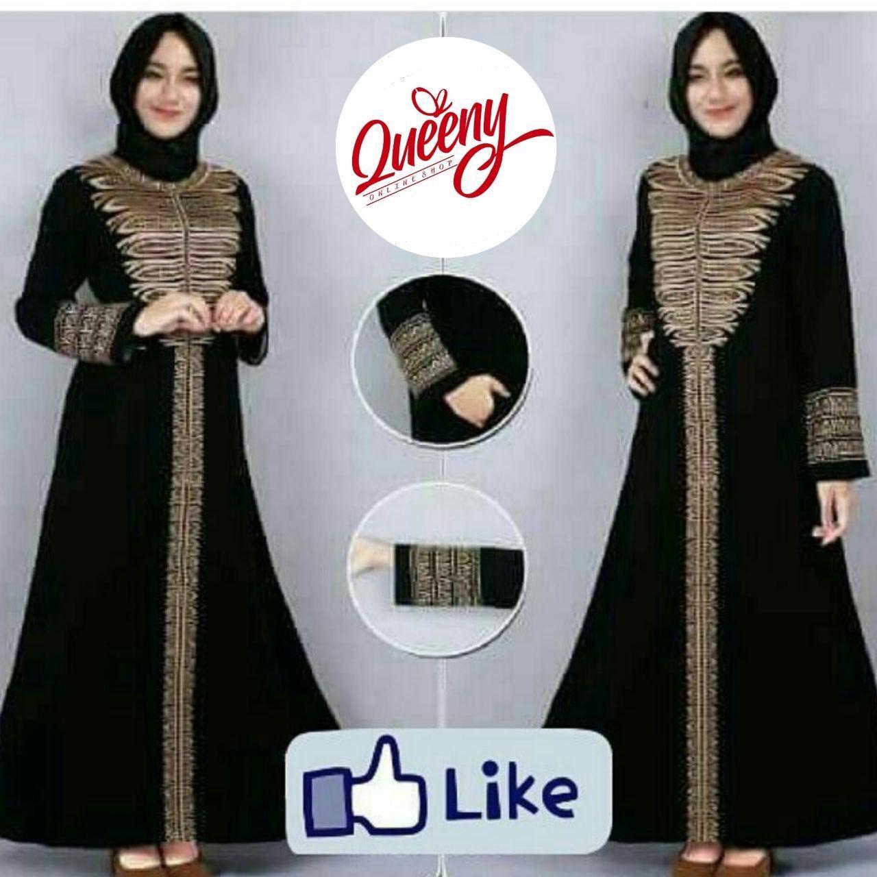 gamis abaya hitam arab - fashion muslimah - abaya modern