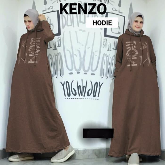Dress Wanita Muslim Hijab Maxi Gamis Kendari - Coklat