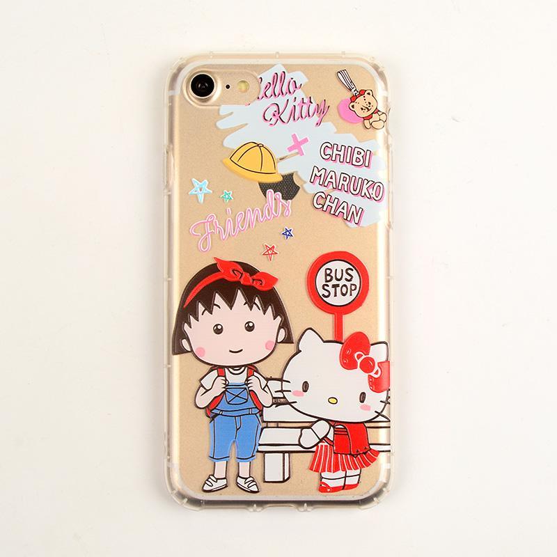 Pesanan Jepang Selubung Ponsel Apple Identitas Sarung Gel Silika Iphone8plus Kartun Bungkus Penuh Lembut
