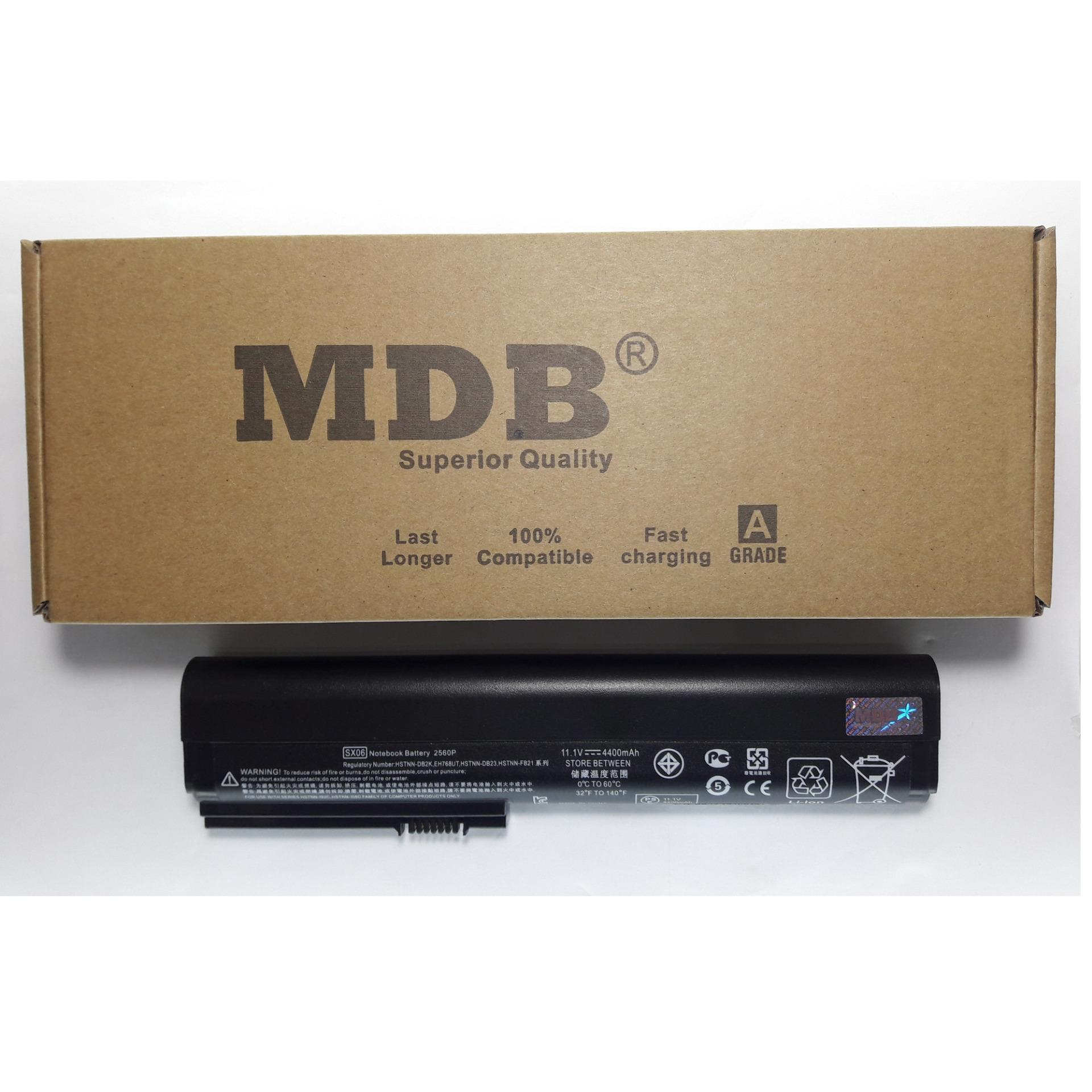 MDB Baterai Laptop HP EliteBook 2560p, 2570p