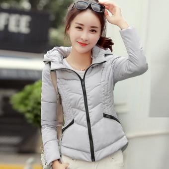 Beli sekarang 2018 pakaian musim dingin model baru baju wanita Jaket baju  katun pakaian katun Gaya Korea membentuk tubuh kerah berdiri hoodie model  pendek ... 3afdb9cf17