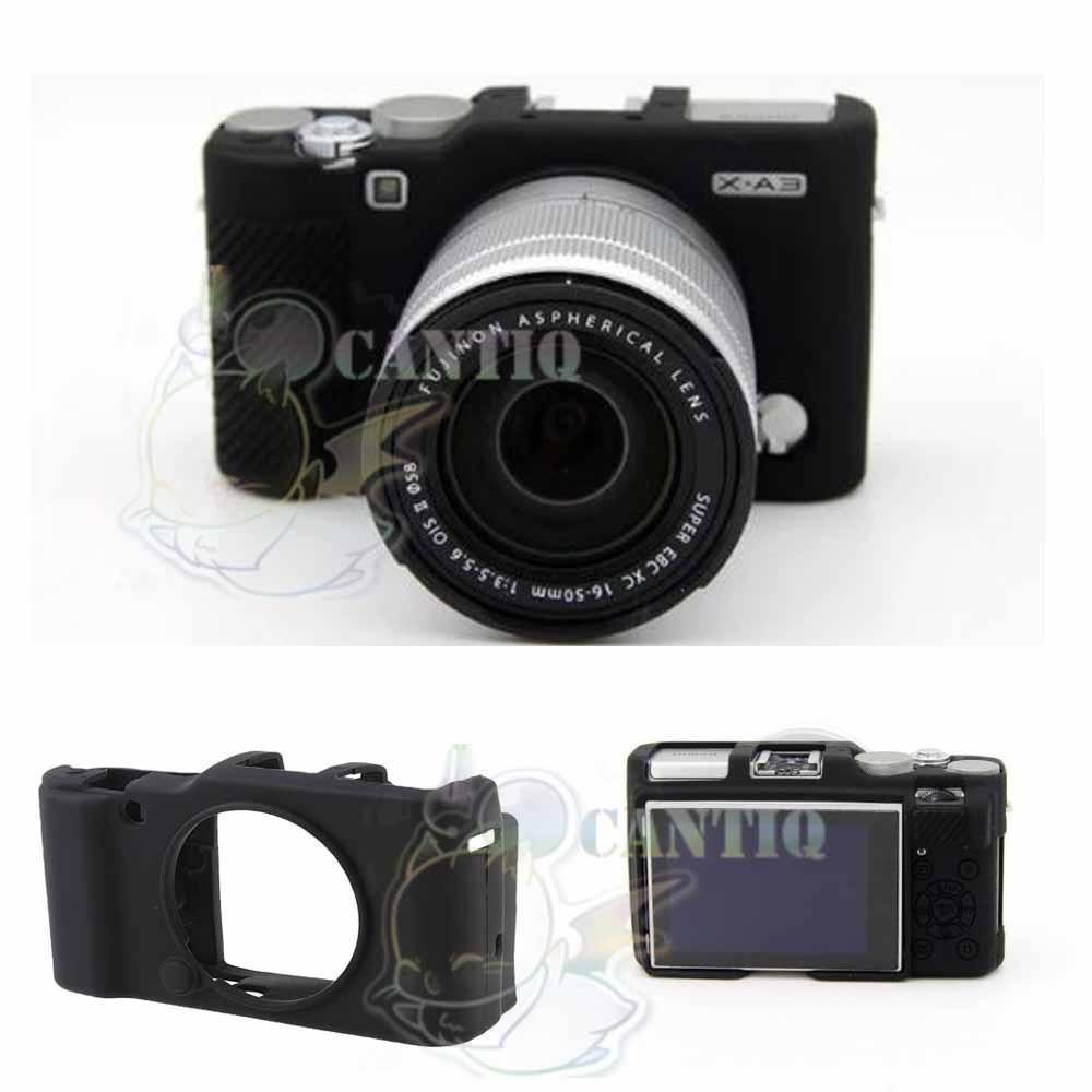 QCF Silicone Fujifilm X-A10 / XA10 Sillicone Case Kamera Fujifilm / Rubber Case Camera / Silikon Case X-A10 / Sarung Silicon Kamera XA10 / Casing Kamera - Hitam