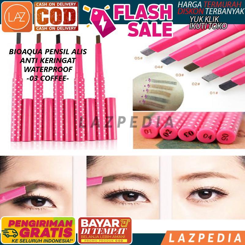 Laz COD - [COFFEE] Bioaqua Pensil Alis Anti Keringat Waterproof Original Asli / Bioaqua Eyebrow Pen