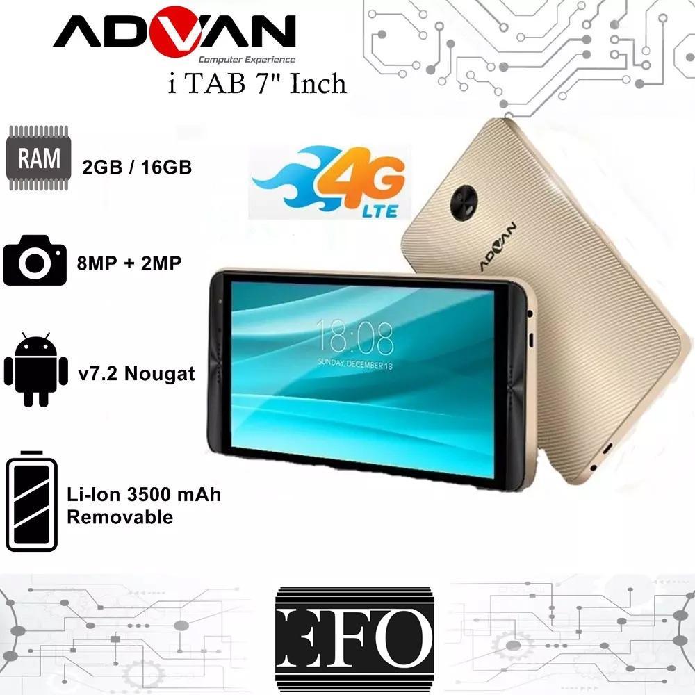 Advan ITAB I7 PLUS - 4G LTE 7inc - RAM 2GB ROM 16GB - BATT 3500
