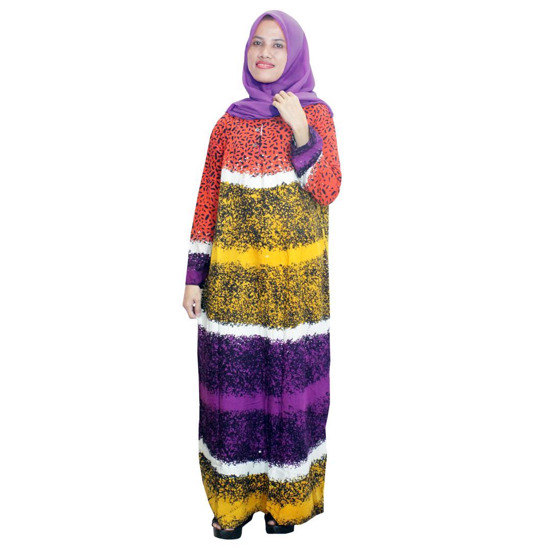 Longdres Lengan panjang Batik Cap Halus Pekalongan, Baju Tidur, Piyama, Kancing Daster Bumil, Daster Busui  (RLD001-02) Batikalhadi Online