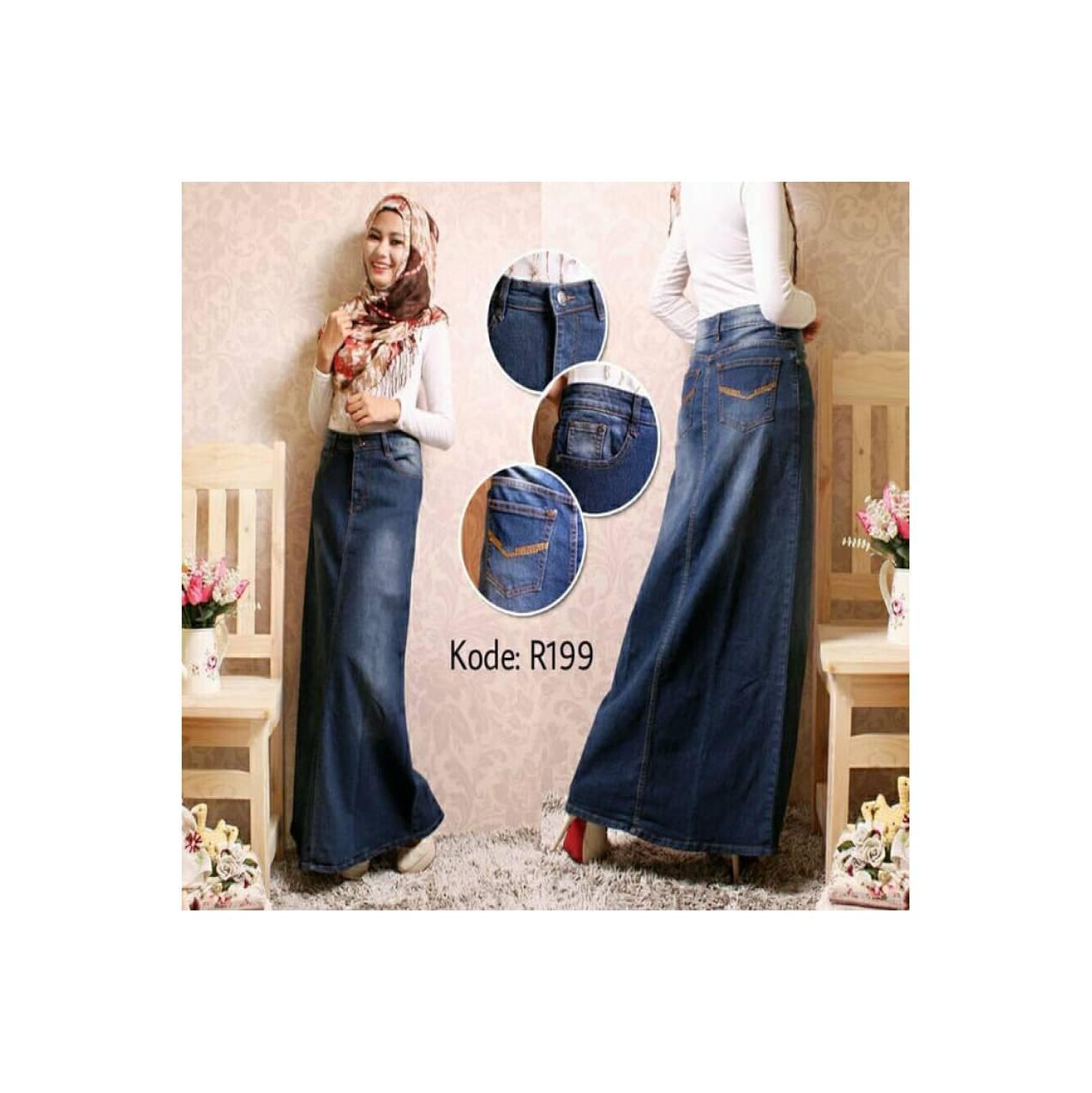 Rok Muslim Terbaru Rok Jeans Span Jumbo