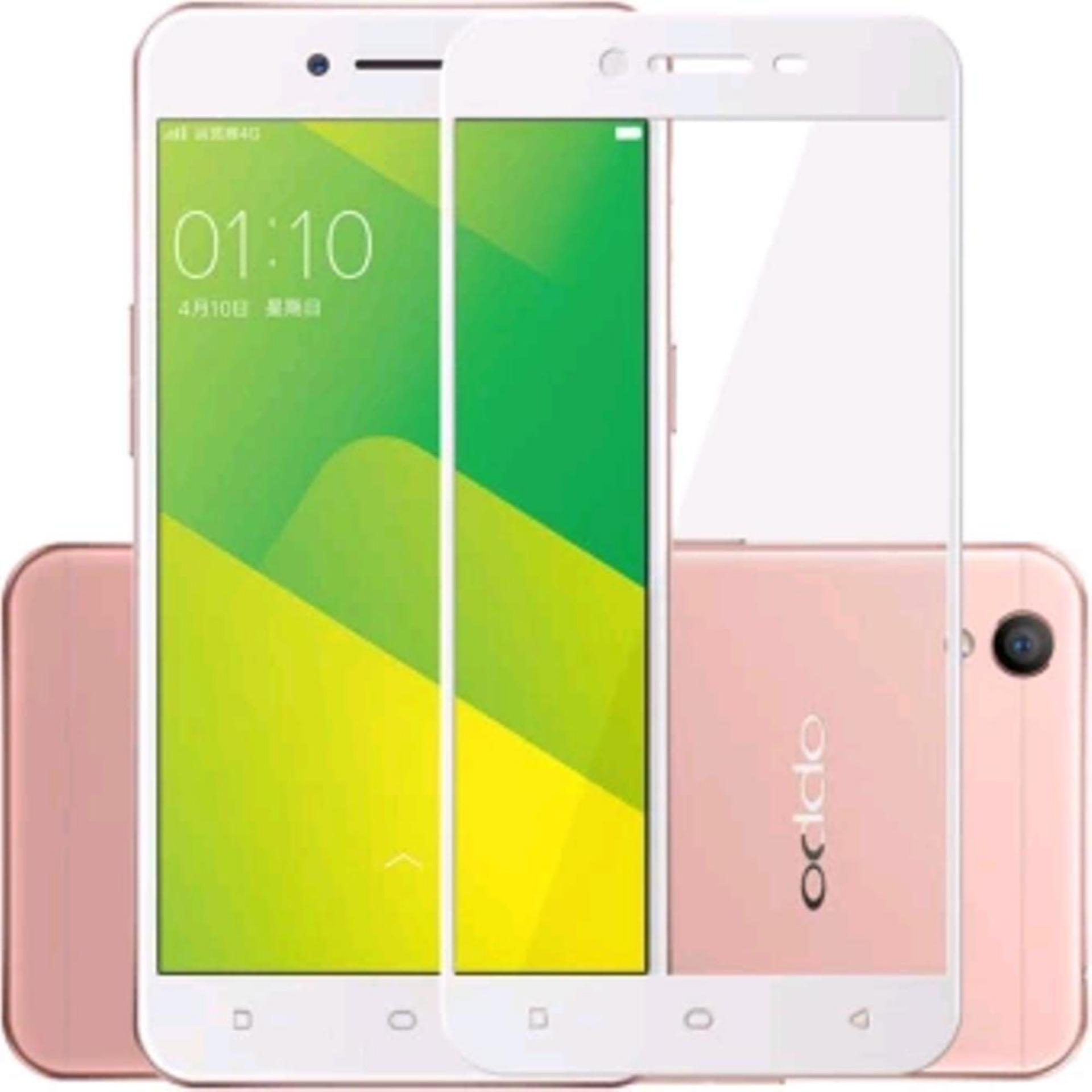 Vn Full Cover Oppo Neo 9 / A37 / A37F | Premium 9H Tempered Glass 4D Screen Protector Film 0.32mm - Putih