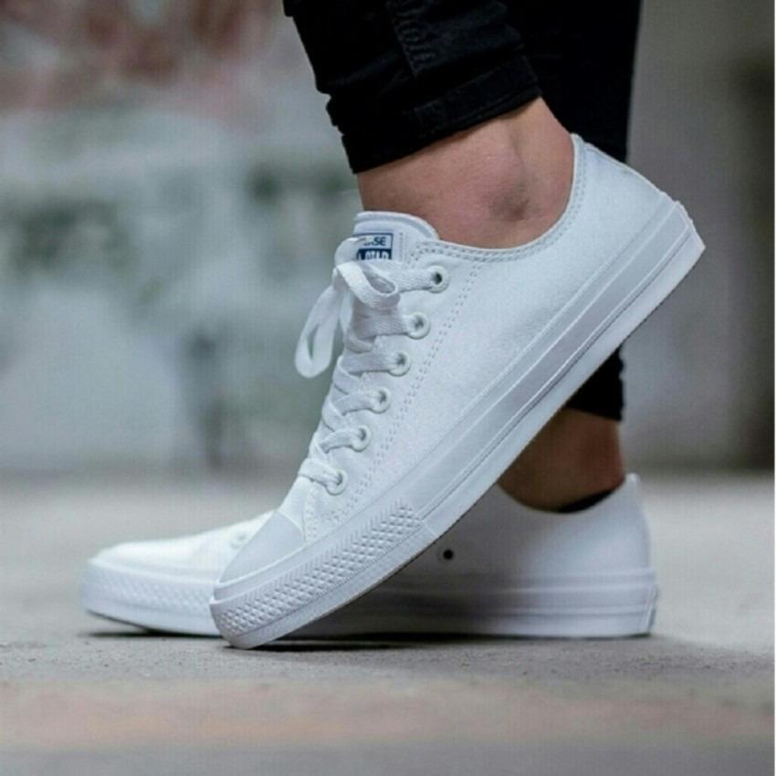 sepatu sneakers converse all star  CT II Low Cut Unisex - Putih