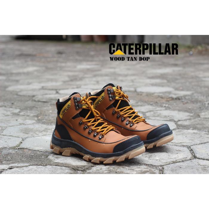 Big Promo - Sepatu Boots Caterpillar Wood Safety Pria
