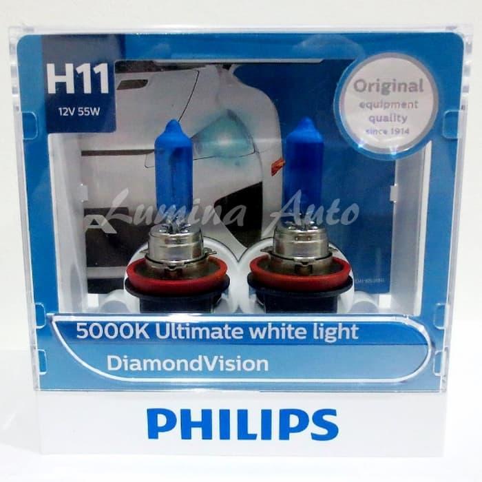 Best Buy Philips Diamond Vision H11 55 Watt - Lampu Halogen Mobil