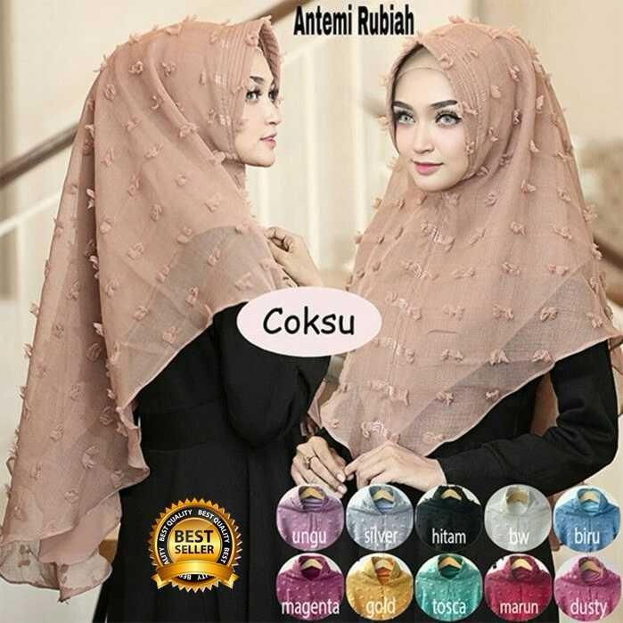 Premium Jilbab Kerudung Instant Syari (Jilbab Syar'i) Hijab Instan Khimar Antemi Rubiah Toko Berkah Online