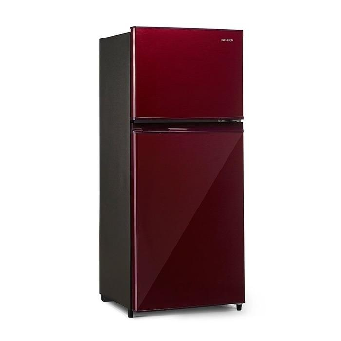 Sharp Kulkas 2 Pintu - SJ-195MD-SR - Red Wine - 172L