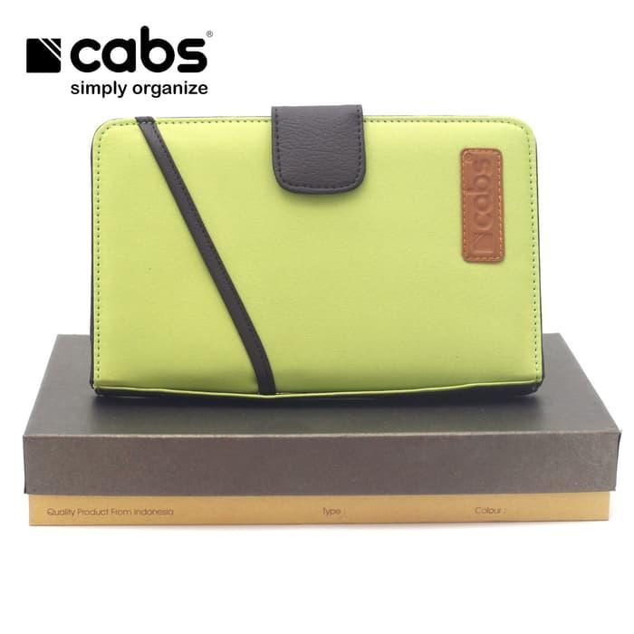 Cabs Pocket Cross - Dompet Wanita & Pria HPO Organizer Unik Cantik Dompet Kartu Branded Serbaguna Dompet Lokal Cewek Cowok Wallet Card Holder Multifungsi - Green