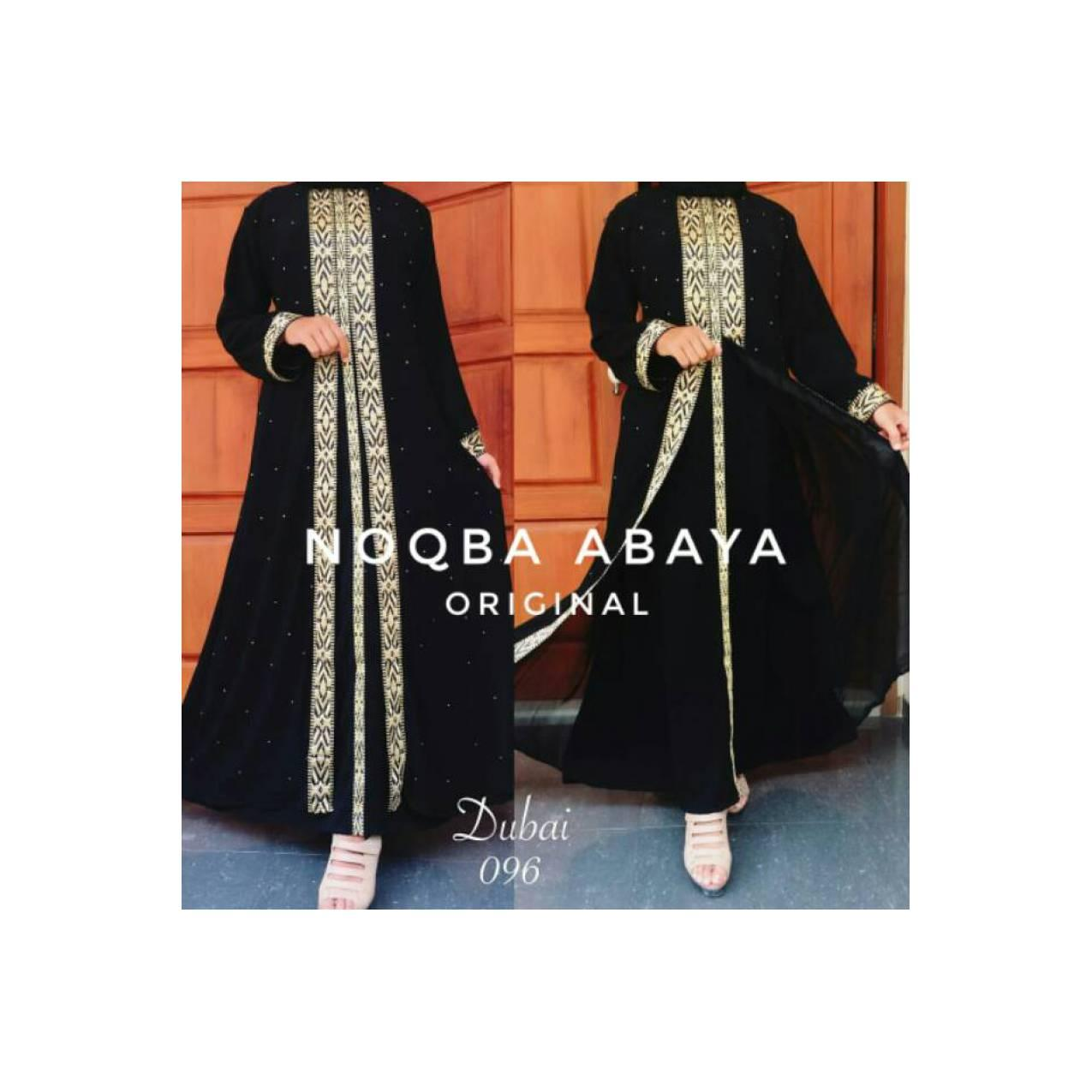 NA Exclusive Gamis Abaya Maxi Dress Dubai Arab Saudi 096 Bordir Mewah